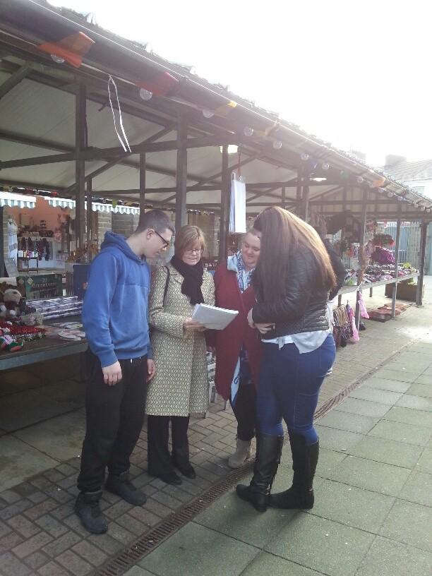 Our Regeneration Officer met traders on Haslingden Market about Christmas events & the great work they're doing improving the market
