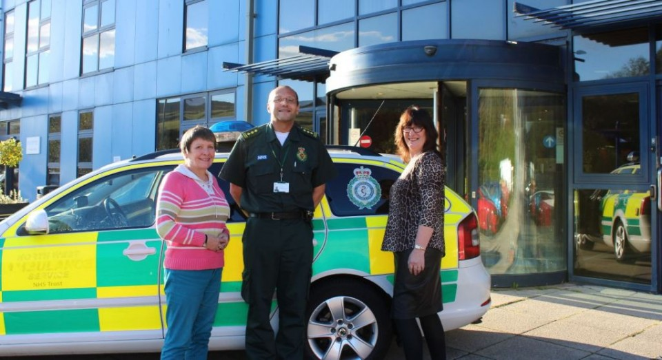 Left to Right, Cllr Jackie Oakes, Chair of the O&S Task and Finish Group, Richard Peters, Community Specialist Paramedic and Cllr Barbara Ashworth, Portfolio Holder for Health