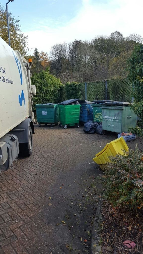 One of our Waste Operative Crews dealing with side waste from a commercial collection.