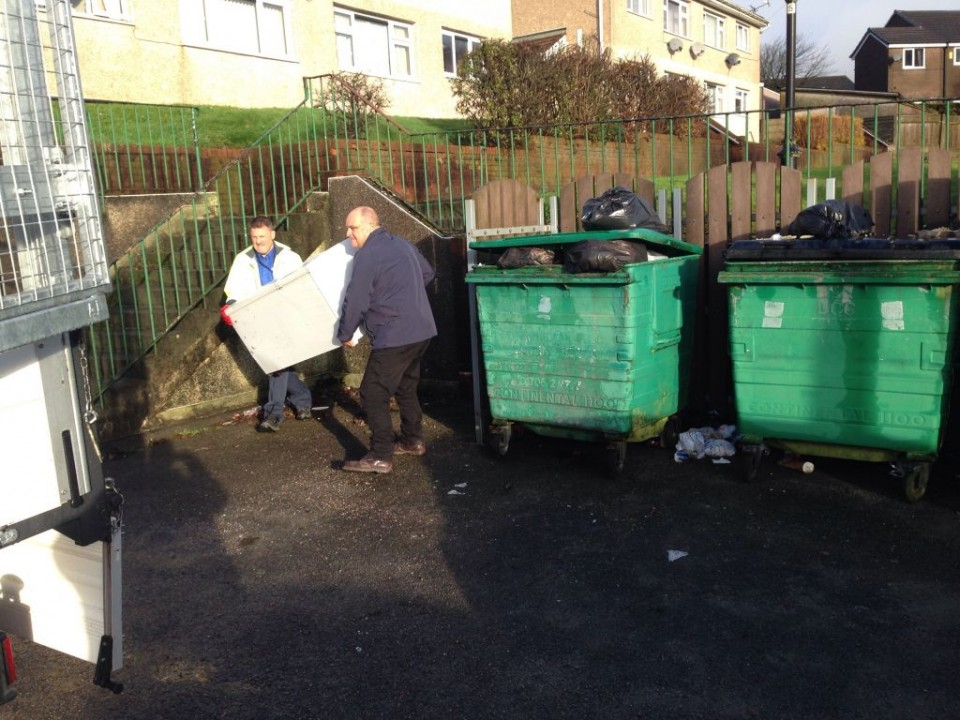 Our Operations team are working with Together Housing and residents to clear up a dirty bin area