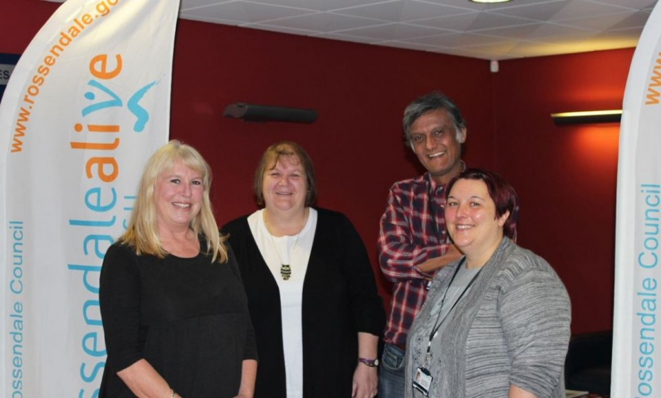 L-R Stephanie Thornton, Jackie Flynn, Tony Sheppard and Melanie Whitehead the Living Well Living Better Project Team at Rossendale Borough Council
