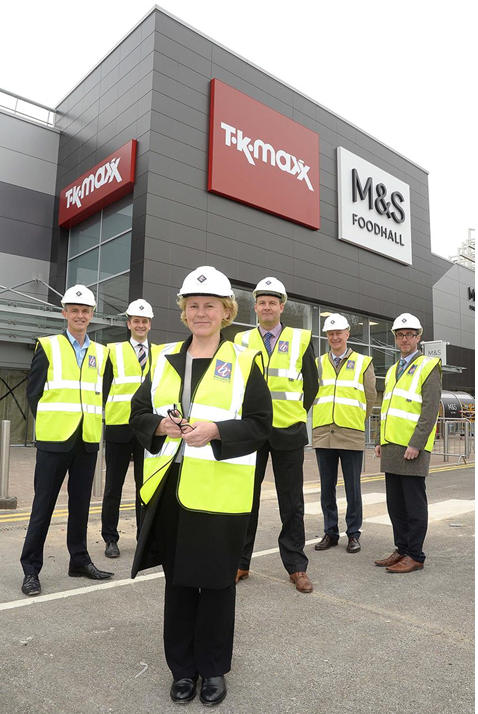 (L-R) Kevin Ruth Together Housing, Dan Symonds Head of Development & Acquisitions Barnfield Construction Limited, Cllr Alyson Barnes, Andrew Brown Senior Estimator Barnfield Construction Limited, Ian Clark Together Housing and Stuart Sugarman Chief Executive Rossendale Council.