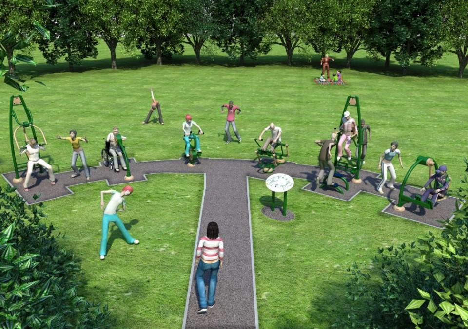 outdoor gym at Victoria Park, Haslingden-4000