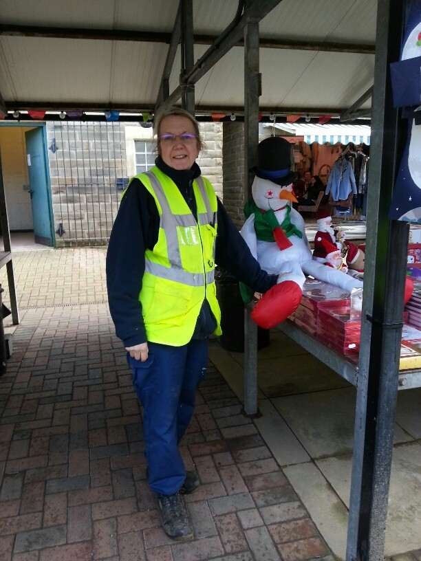 One of Our Town Centre Caretakers was also on Haslingden Market where she works hard keeping it tidy for traders and shoppers!