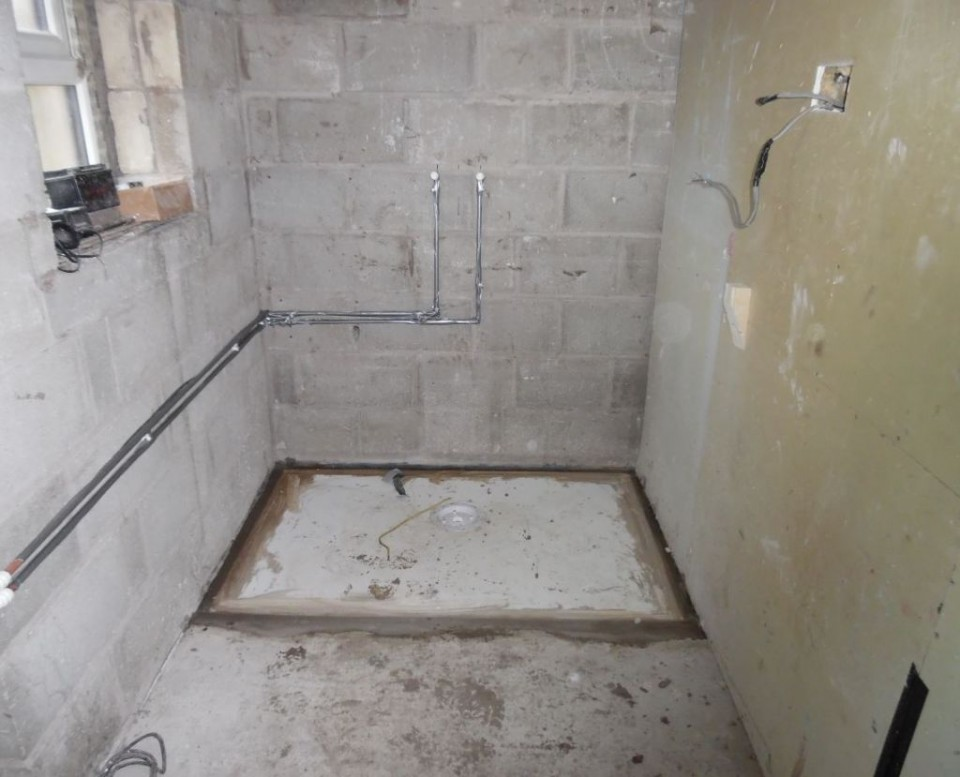 Our Disabled Facilities Grant Officer went on site inspection today viewing the removal of bath to form level access showering area