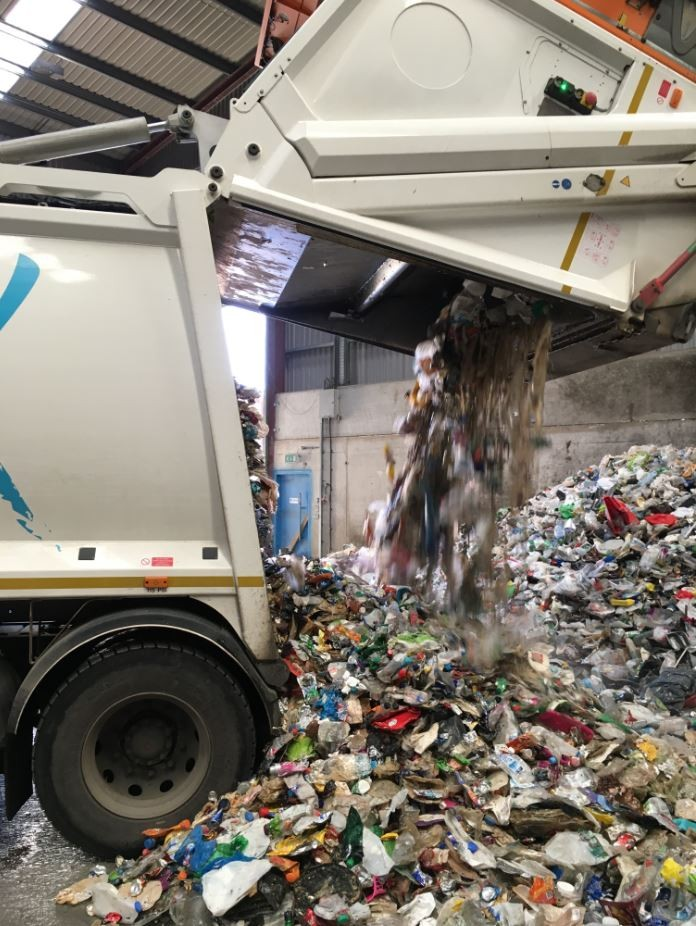 The Valley's glass, cans and plastics that we've collected and taken to the bulking centre ready for recycling!