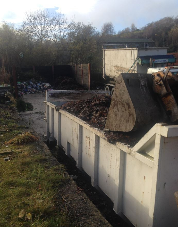 Leaves from the valley roads getting processed at our Henrietta Street depot for the waste transfer station