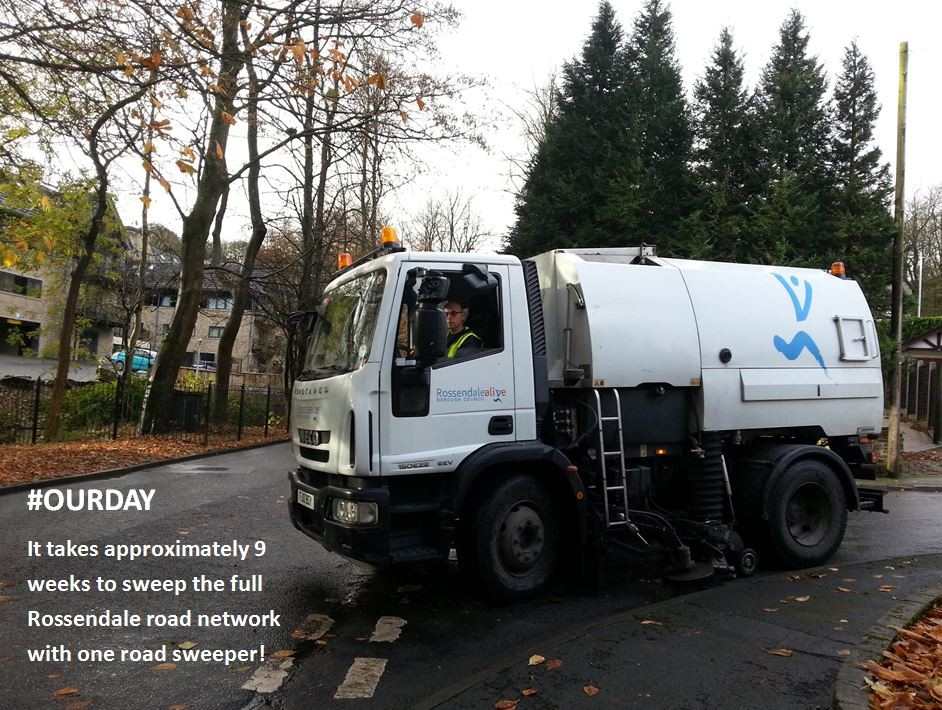 More Rossendale roads free of leaves after being swept by one of our sweepers!
