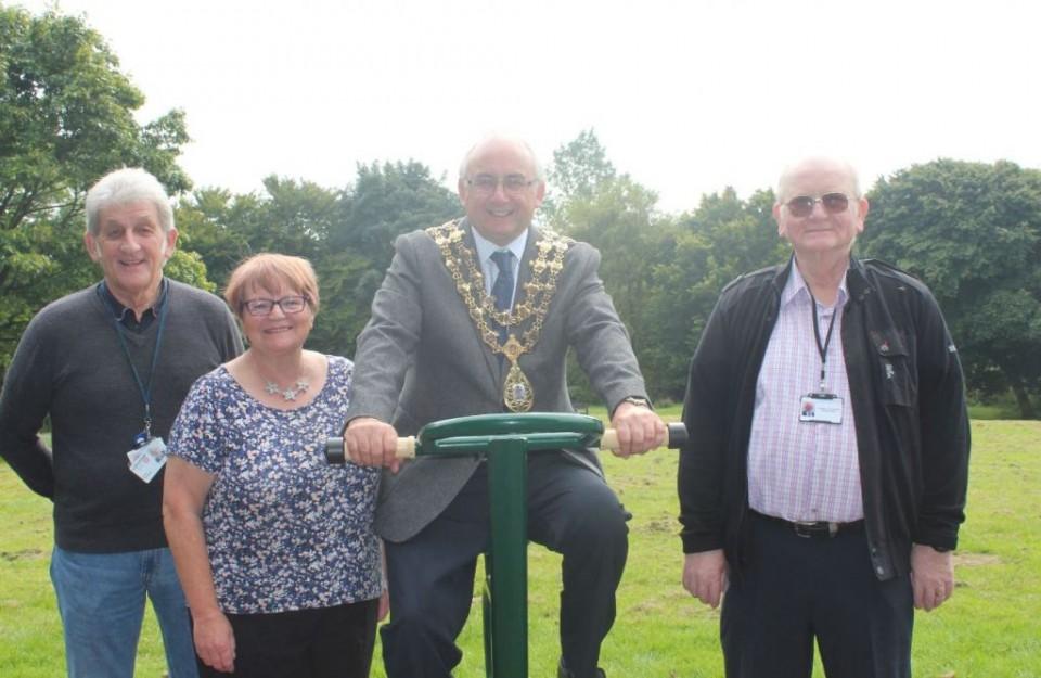 Cllr David Stansfield, Cllr Christine Lamb. Mayor of Rossendale Cllr Granville Morris and Cllr Tony Haworth